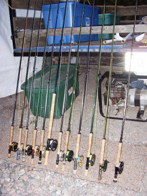 Fly rods ready to go on the Garden River
