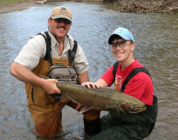 Northeast ohio oh steelhead fishing guide guided trout for Trout fishing in ohio